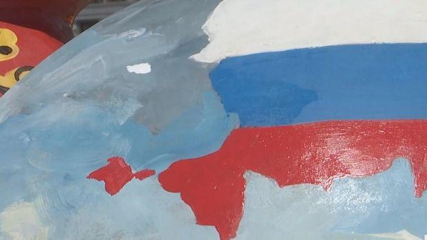 Карта Росії з анексованим Кримом