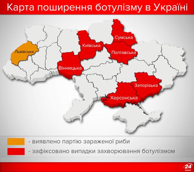 Ботулізм шириться Україною