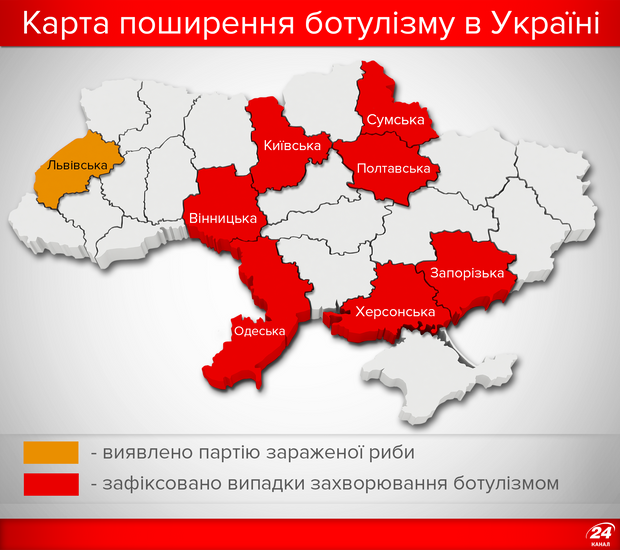 Ботулизм распространяется по Украине