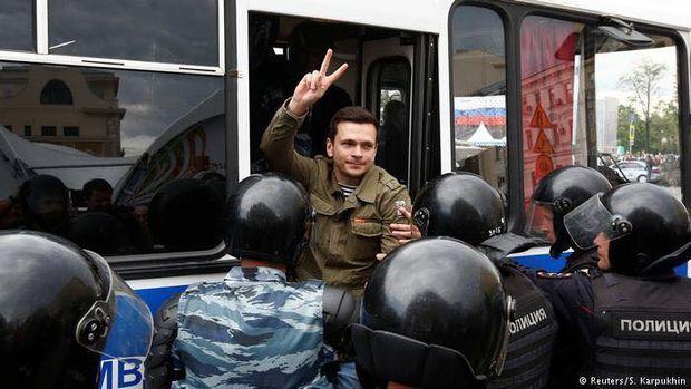 Затримання Іллі Яшина в Москві