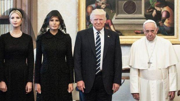 Папа Римський не надто задоволений зустріччю з Трампами