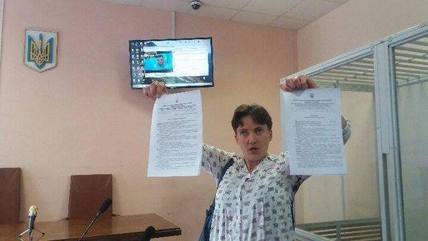 Савченко пояснила, щоробила усуді усправі Онищенка