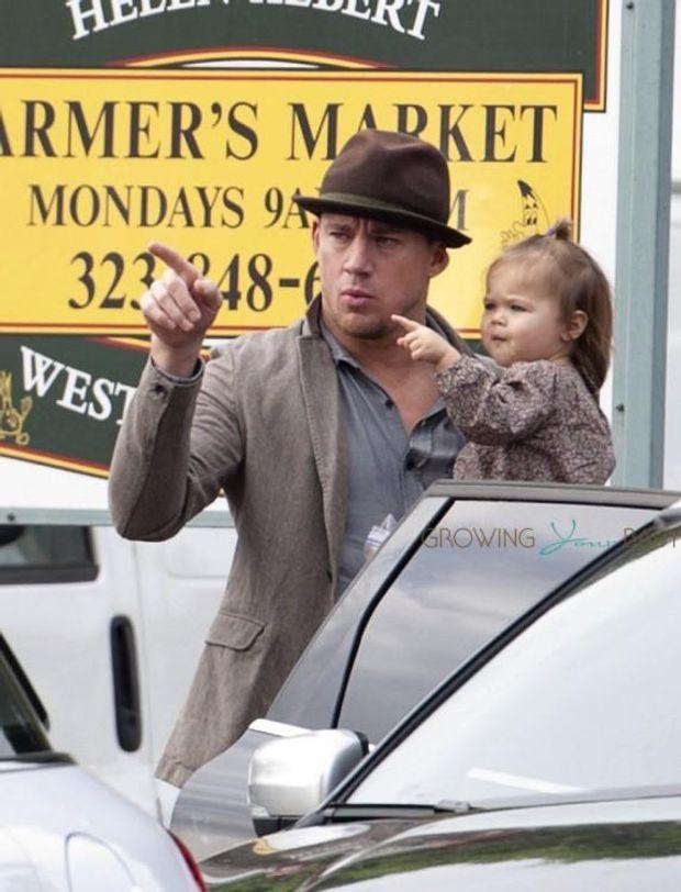 Ченнінг Тейтум із маленькою донечкою