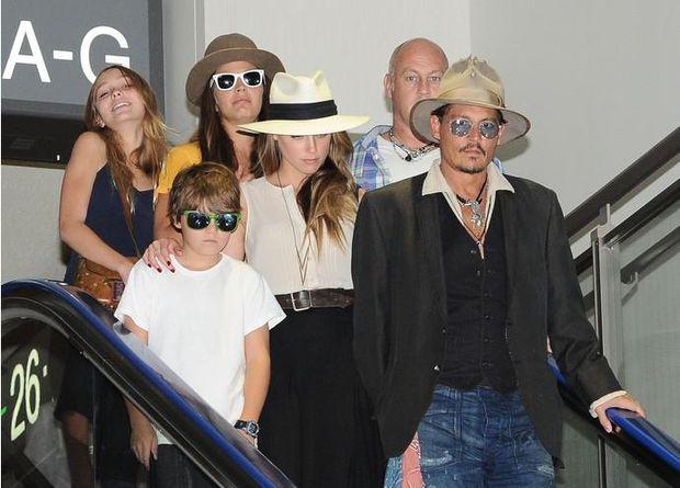 Джонні Депп з дітьми та колишньою дружиною Ембер Хьорд