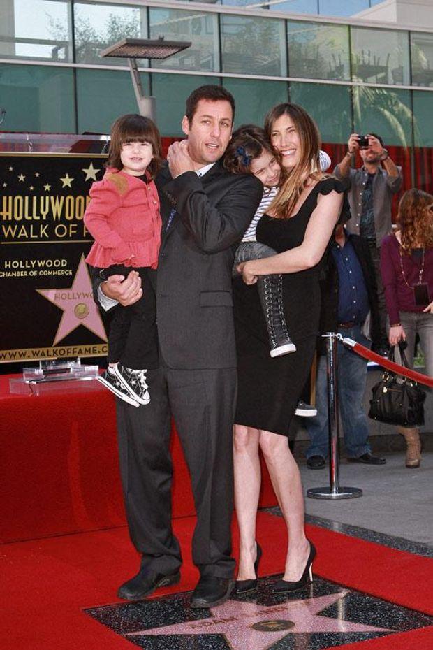 Адам Сандлер з дружиною та дітьми