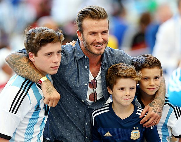 Девід Бекхем із синами