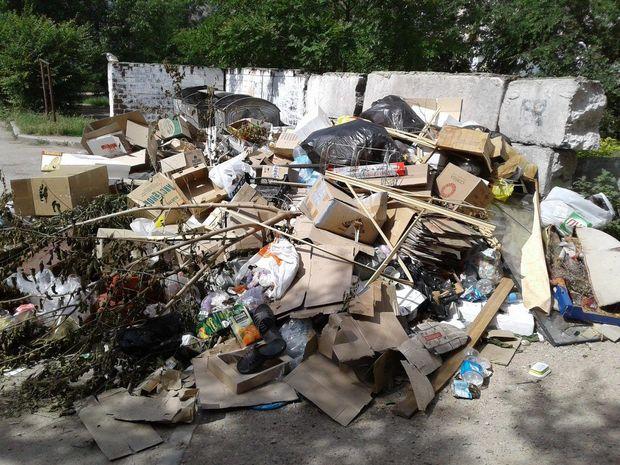 Гори сміття в анексованій Євпаторії