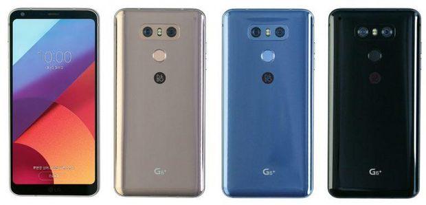 Кольорова гама LG G6+