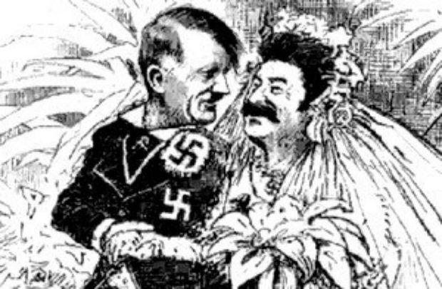 Карикатура про союз Сталіна і Гітлера
