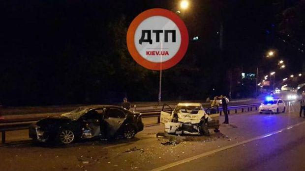 Авария в Киеве с участием полиции