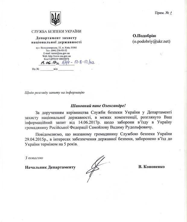 Рок-музиканту заборонили в'їзд в Україну