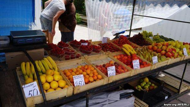Ціни на фрукти в окупованому Криму