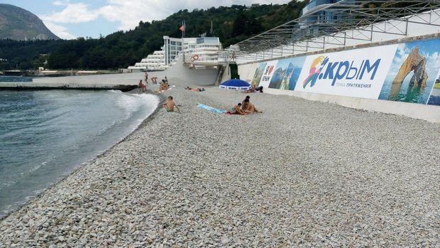 Пляж в окупованому селищі Партеніті