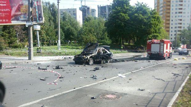 У Києві вибухнув автомобіль: водій загинув