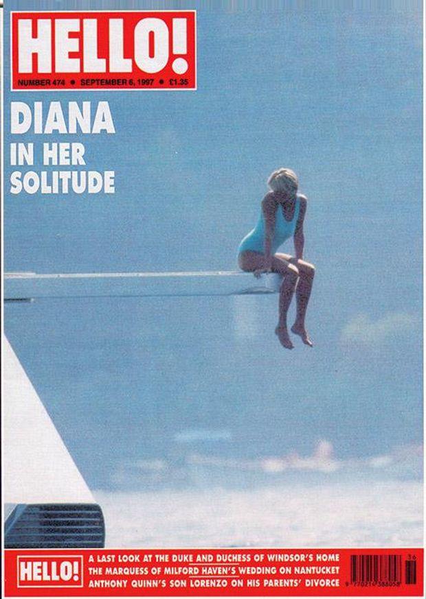 Принцеса Діана позує у купальнику