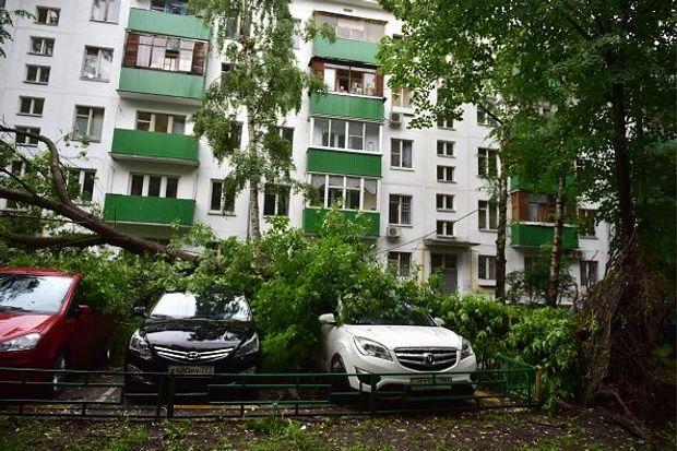 Негода, Росія, машини