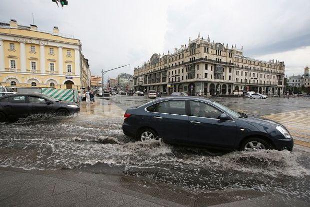 Москва, злива, негода, Росія