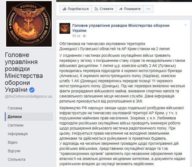 Розвідка повідомила про незаконні дії російських військових у Криму