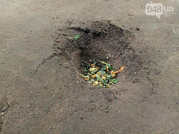 Місце підриву автомобіля в Одесі