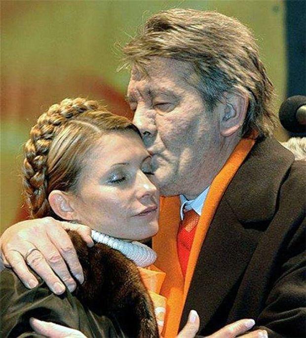 День поцілунків: Тимошенко і Ющенко