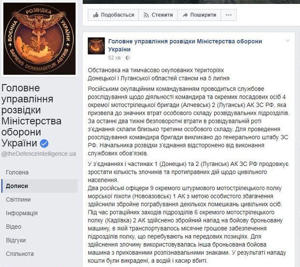 Розвідка повідомила про злочини бойовиків на Донбасі