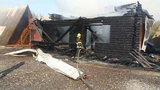 Пожежа на курорті в Солотвино