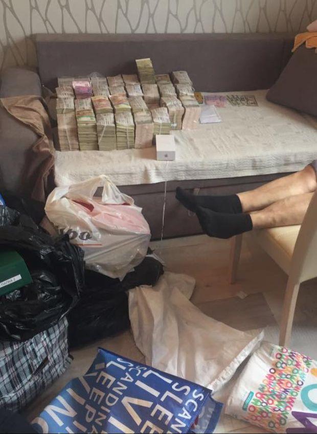 Велику суму грошей знайдено під час обшуків у справі про розкрадення Клименком державних грошей