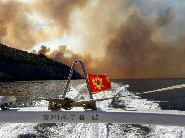 Лісові пожежі дістались до Чорногорії