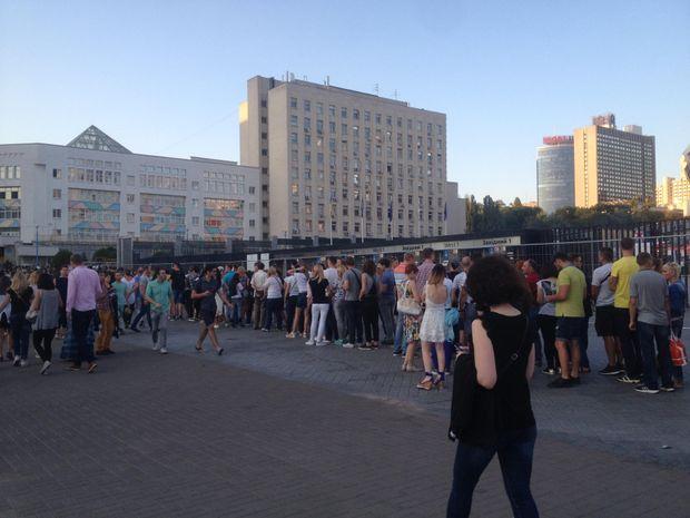 Черга на концерт Depeche Mode у Києві