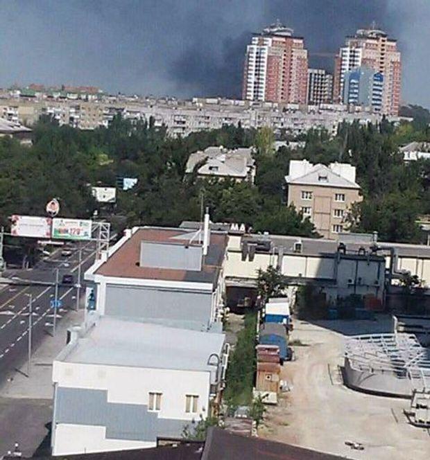 Донецьк, пожежа, склад