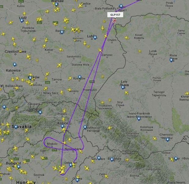 Маршрут літака, на борту якого перебував Дмитро Рогозін