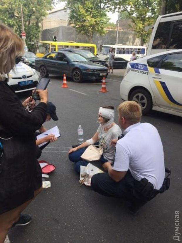 Патрульні збили жінку в центрі Одеси