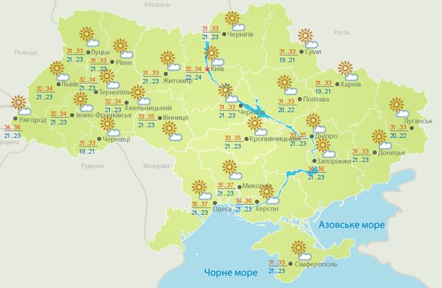 Погода, спека, Україна