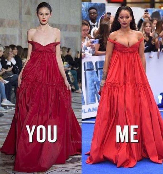 Сукня на Ріанні виглядає зовсім по-іншому