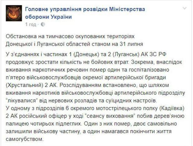 Звіт української розвідки