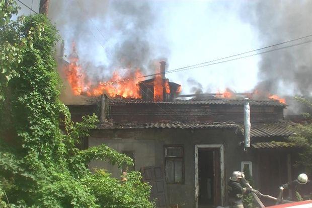 Пожежа в житловому будинку в Харкові