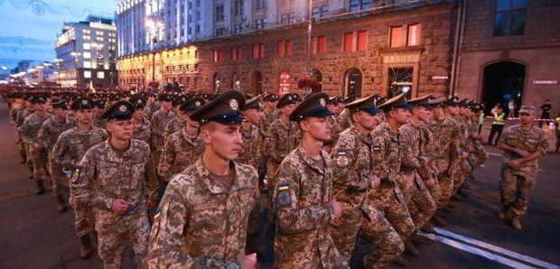 Репетиція військового параду до Дня Незалежності у Києві