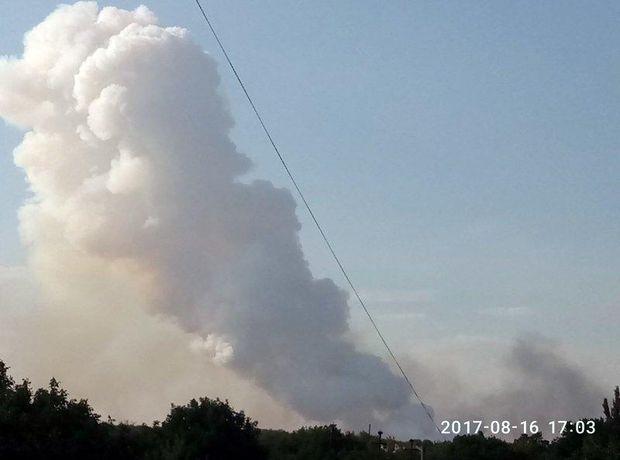 Пожежа в окупованому Донецьку