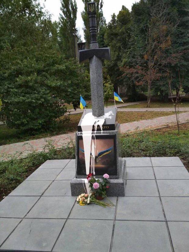 В Києві понищили пам'ятник бійцям АТО