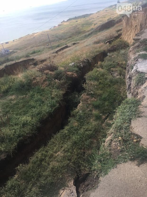 Зсув ґрунту на Одещині