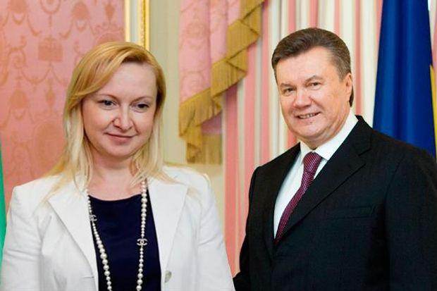 Віктор Янукович і його цивільна дружина Любов Полежай