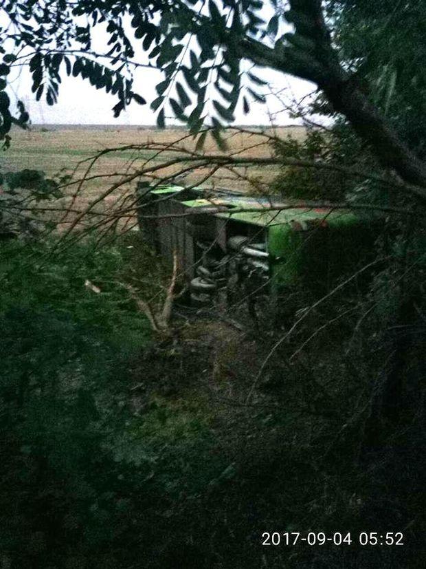 Автобус перекинувся на Миколаївщині