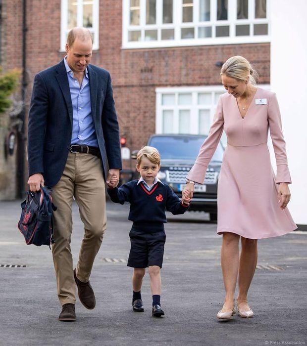 Принц Джордж вперше пішов до школи