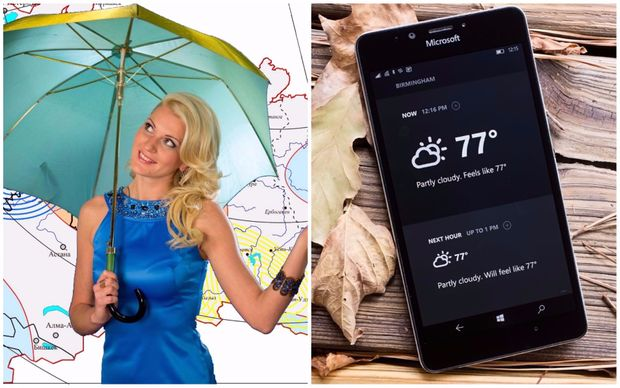 Телевізійний прогноз погоди vs смартфон