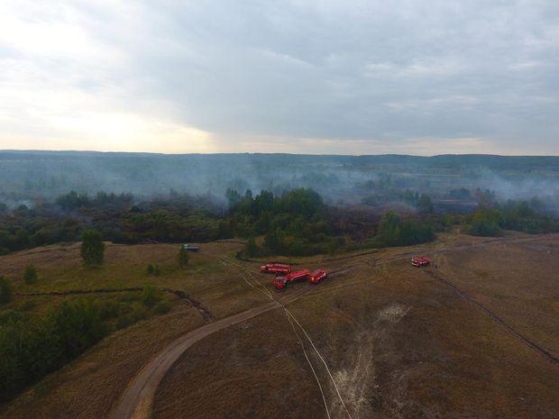 На Черкащині оголошено надзвичайну ситуацію – горять торф'яні поля