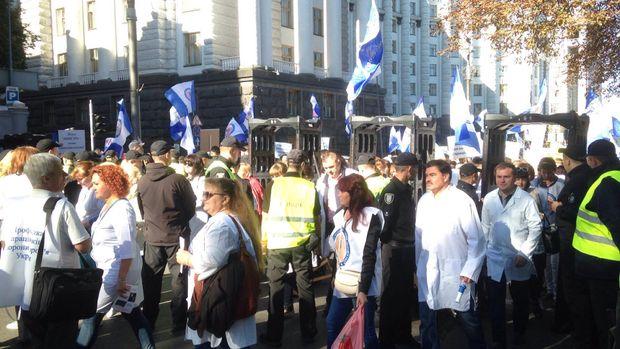 Мітинг медиків у Києві