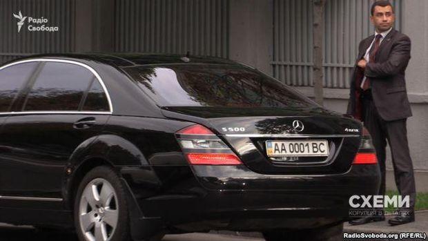 Ярослав Романюк приїхав на службовому авто