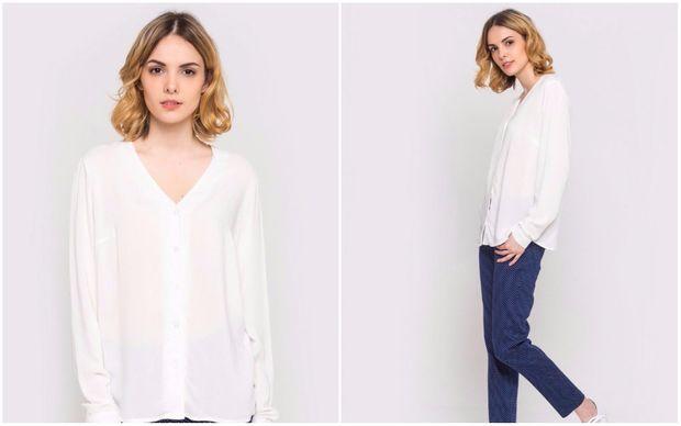 Вільна блуза з V-подібним вирізом