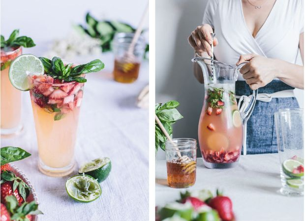 Рецепт полунично-базилікового детокс-напою