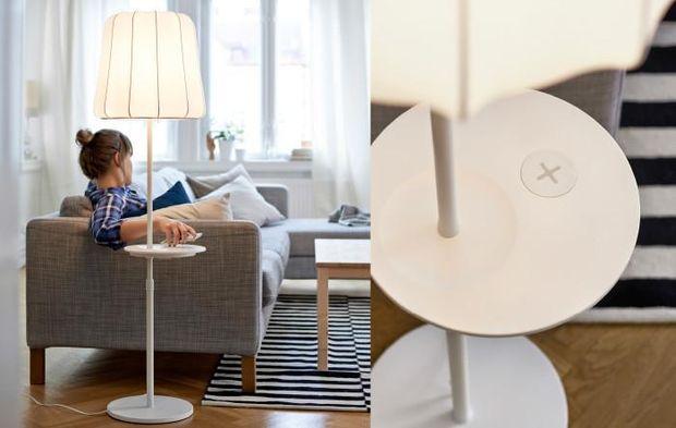 Лампа з функцією безпровідної зарядки від IKEA